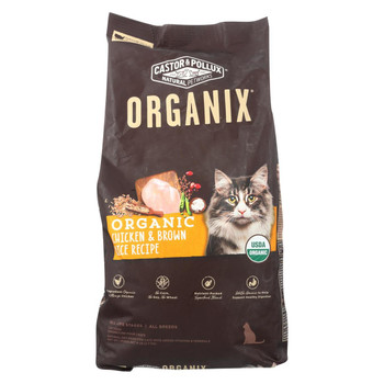 Castor and Pollux - Organix Grain Free Dry Cat Food - Chicken and Brown Rice - Case of 5 - 6 lb.