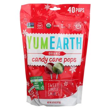 Yumearth Organics - Organic Pops - Candy Cane - CS of 18-8.50 OZ