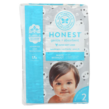 The Honest Company - Diapers Size 2 - Pandas  - 32 Count
