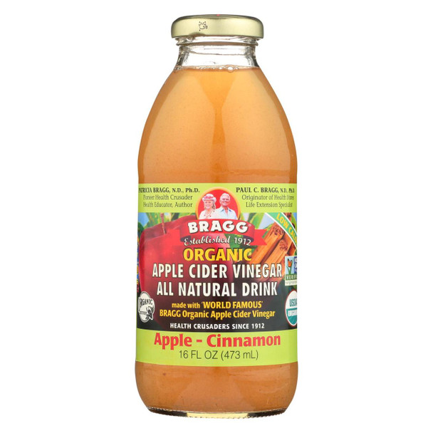 Bragg Apple Cider Vinegar Drink - Organic - Apple-Cinnamon - 16 oz - case of 12