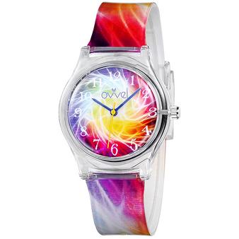 Girls analog color burst watch