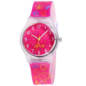 Girls analog sketch watch