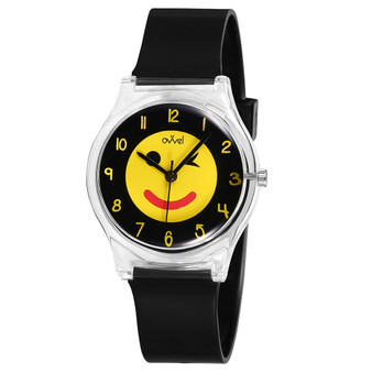 girls emoji analog watch