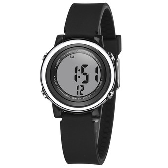 Digital Sports Watch with many features - Solid Black