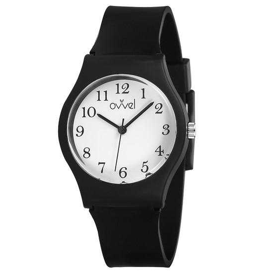 Boys black analog watch