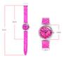 Girls analog pink and white checked watch