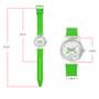 girls green gingham analog watch