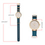 Woman & Girls Ribbon Analog Watch - Teal - Gift Box Included