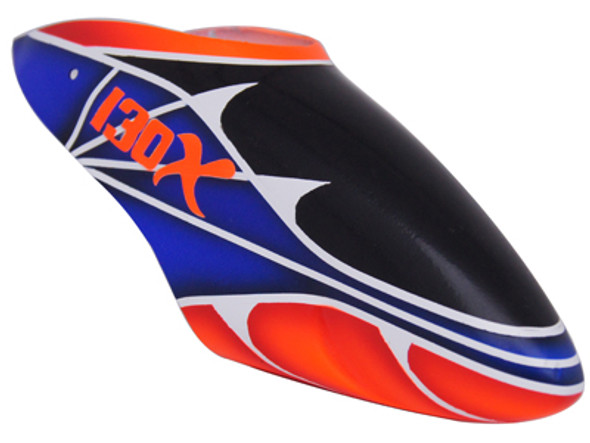 FUC-B130X006 FUSUNO Spiderman Airbrush Fiberglass Canopy - For 130 X Helicopter ***CLEARANCE***