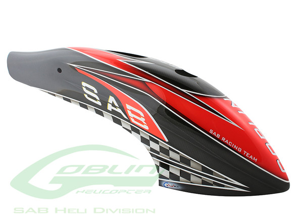 Canomod Airbrush Canopy SAB Red/Carbon - Goblin 630 Competition [H9029-S]