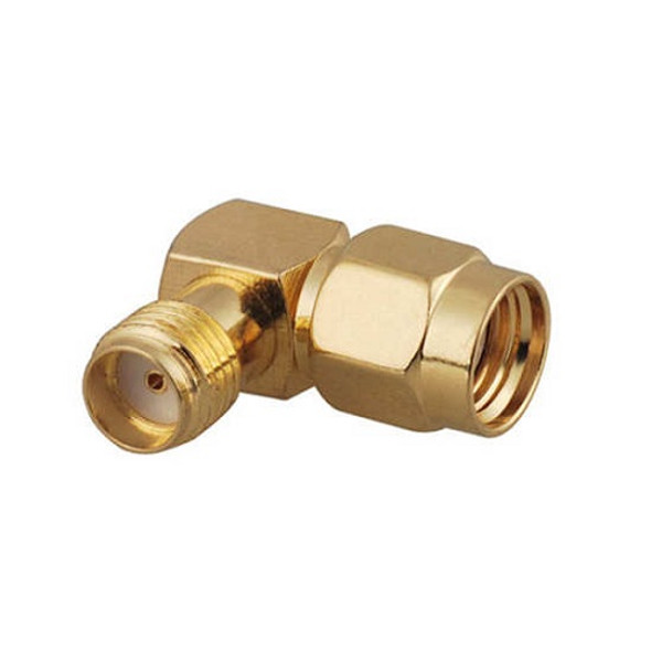SMA Female to RP-SMA Male 90 degree adapter