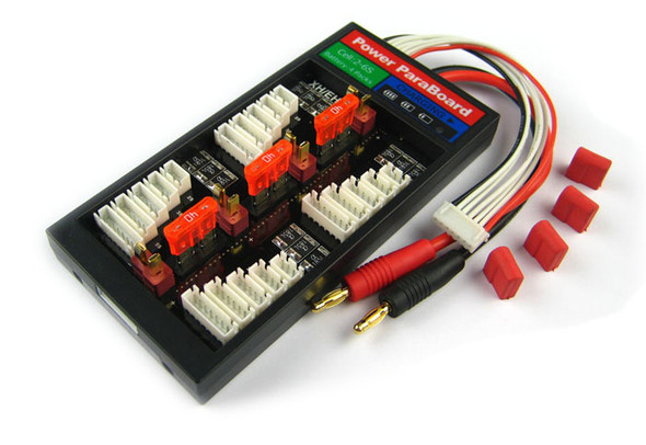 HIGH CURRENT 40A PARALLEL CHARGE BOARD (T-PLUG CONNECTOR) FOR 4 PACKS