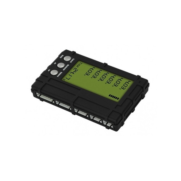 3 in 1 LCD Voltage Indicator Meter Balancer and Discharger 2-6S Lipo Life (Black)