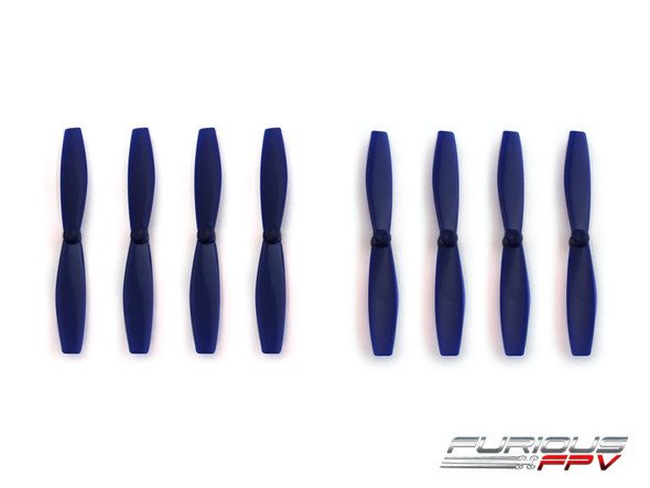 FuriousFPV High Performance 66mm Plastic Propellers (Navy Blue, 4CW & 4CCW)