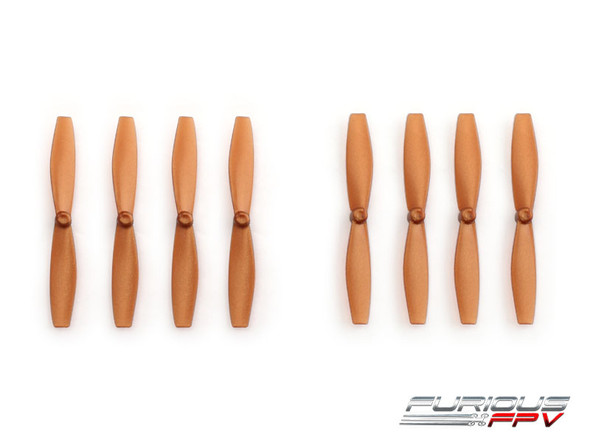FuriousFPV High Performance 66mm Plastic Propellers (Brown, 4CW & 4CCW)