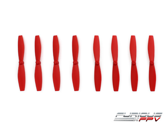 FuriousFPV High Performance 66mm Plastic Propellers (Red, 4CW & 4CCW)