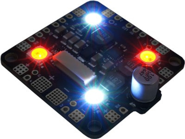 BrainFPV RADIX PB 8S Power Board (up to 8S, LEDS, Current Sensing, Stackable with RADIX FC)