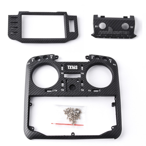 RADIOMASTER TX16S FACE PLATE (CARBON)
