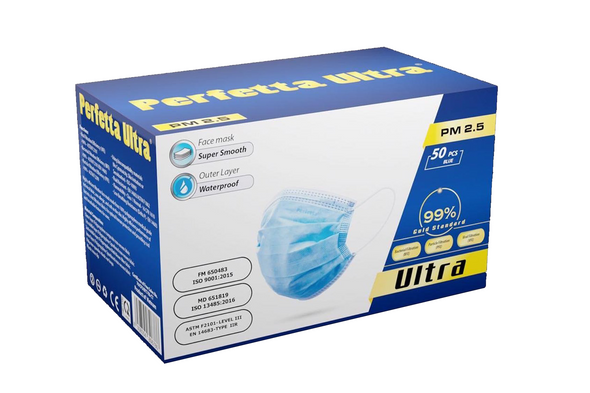 4-Ply Medical Face Mask- Level 3 ASTM (Blue) ** Water resistance (35 pcs/ box)