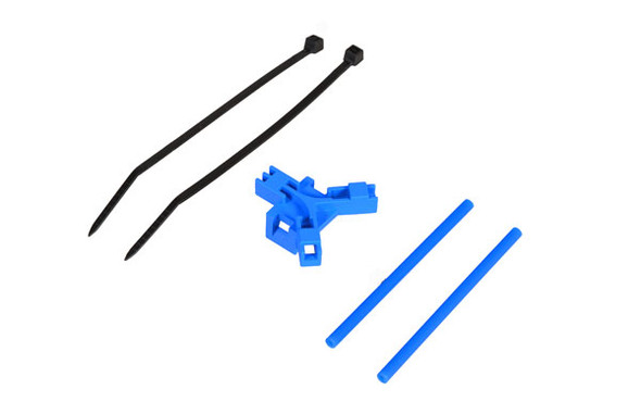 Antenna support for tailboom, blue
