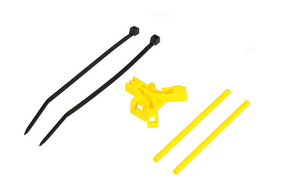 Antenna support for tailboom, yellow