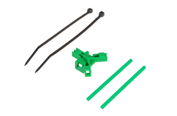 Antenna support for tailboom, green