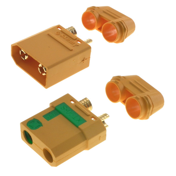 XT90-S Anti-Spark Connector  1 Pair - 1 male, 1 female (Cinelifters, Heli, Plane - High Current/Draw applications)