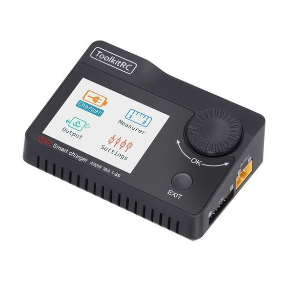 ToolkitRC M8S 400W 18A Charger - Cell Checker - Servo Tester - Signal Tester