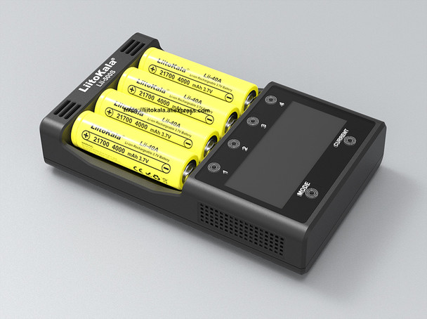 LiitoKala Lii-500S 18650 Battery Charger for 18650 26650 21700 AA AAA Battery Touch Button LCD Display Test The Battery Capacity