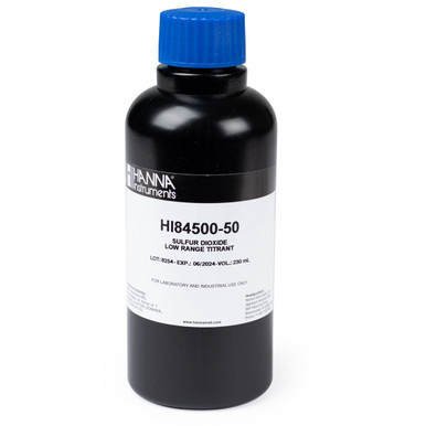 Low Range Titrant for Sulfur Dioxide Mini Titrator