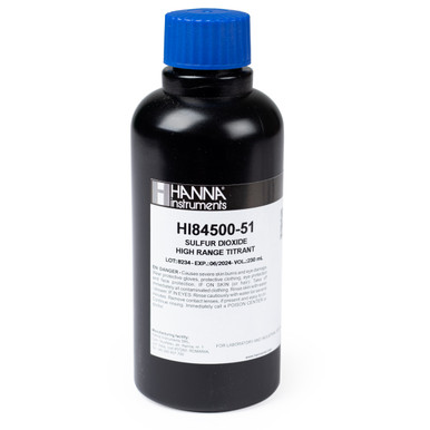 High Range Titrant for Sulfur Dioxide Mini Titrator