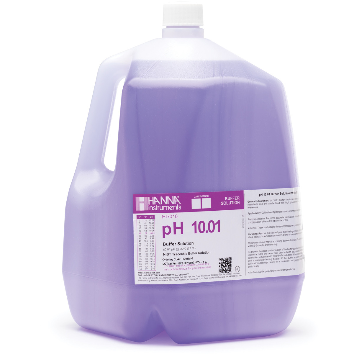 pH 10.01 Calibration Solution (1 G ( 3.78 L))