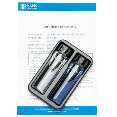 Marine Alkalinity Checker® HC Calibration Check Set