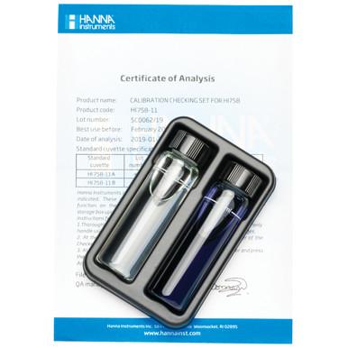 Marine Calcium Checker® HC Calibration Check Set