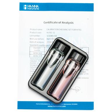 Total Chlorine Ultra Low Range Checker® HC Calibration Check Set