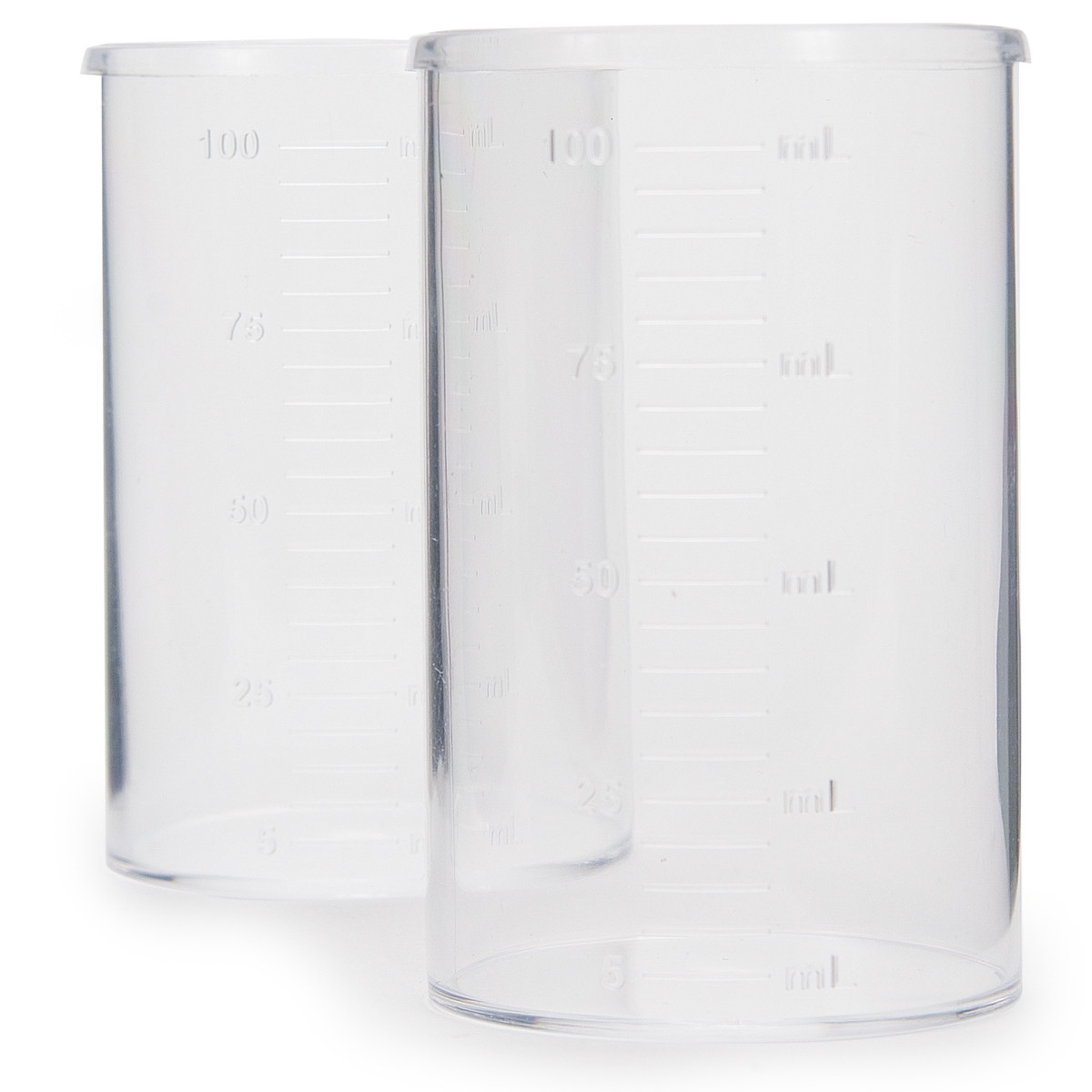Plastic Beaker Set, 100 mL (10)