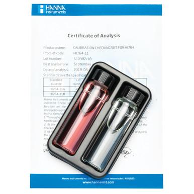 Marine Nitrite Ultra Low Range Checker® HC Calibration Check Set
