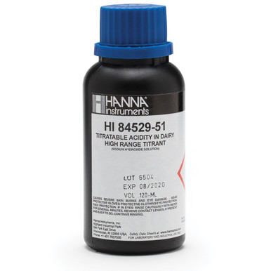 High Range 20 Titrant for Titratable Acidity in Dairy Mini Titrator