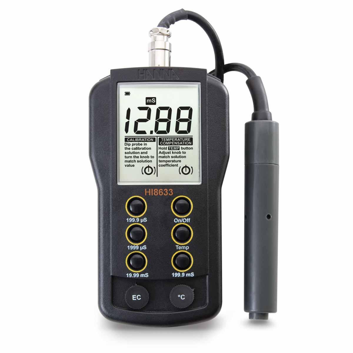 Multi-Range EC Meter with Manual Temperature Compensation