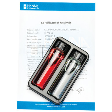 Chlorine Ultra High Range Checker® HC Calibration Check Set