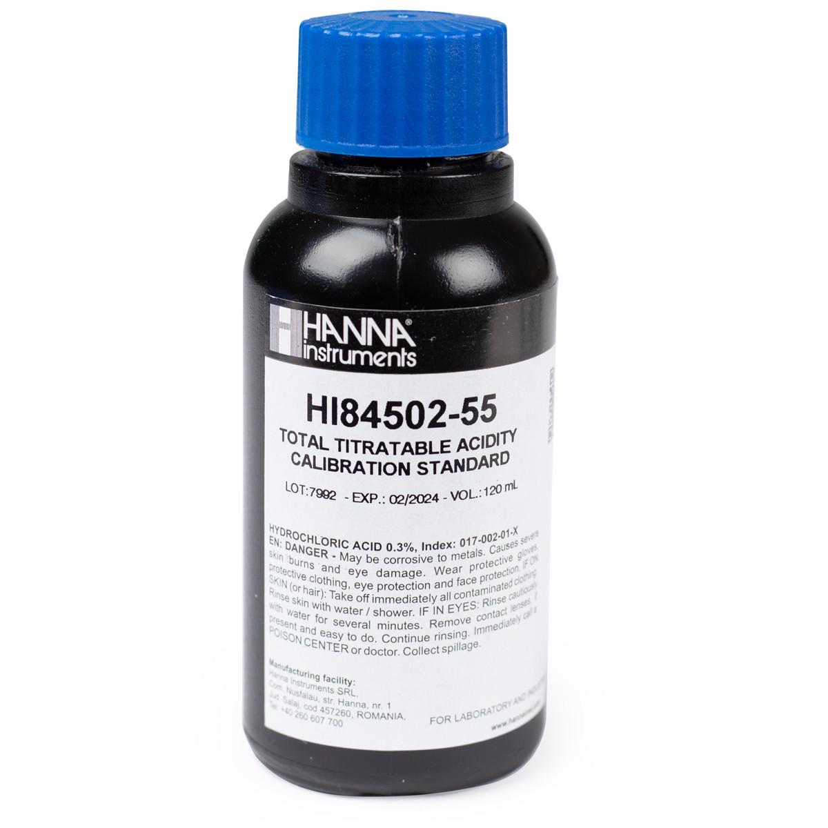 Pump Calibration Standard for Titratable Acidity in Wine Mini Titrator