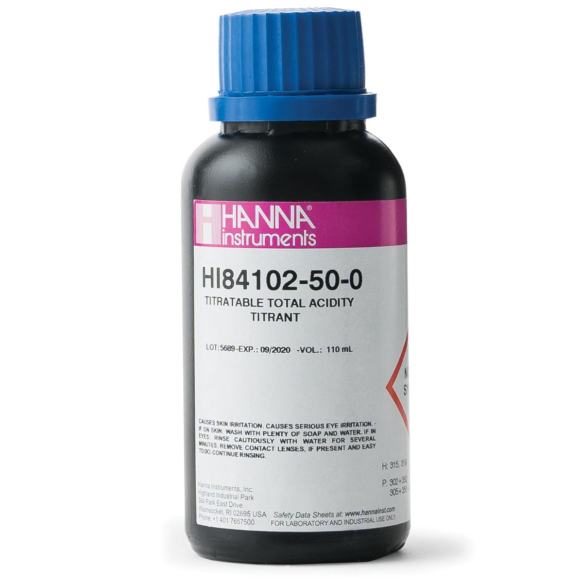 Titrant for Titratable Acidity in  HI84102 Wine Mini Titrator