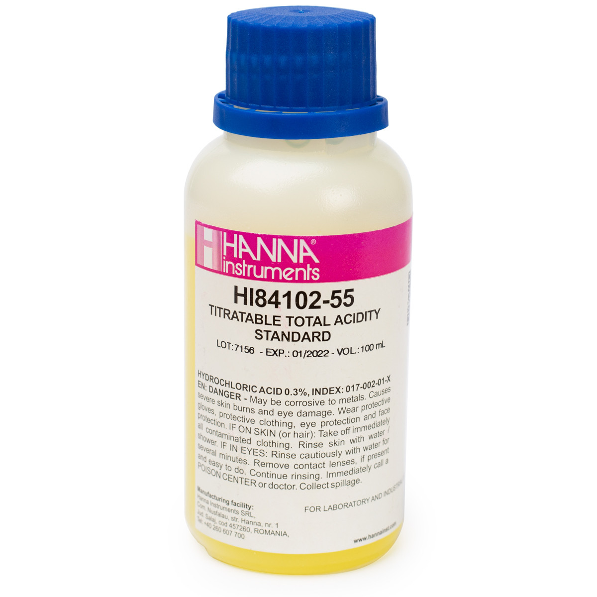 Pump Calibration Standard for Titratable Acidity in HI84102 Wine Mini Titrator