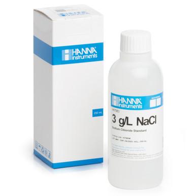 3.0 g/L NaCl Standard Solution (230 mL Bottle)