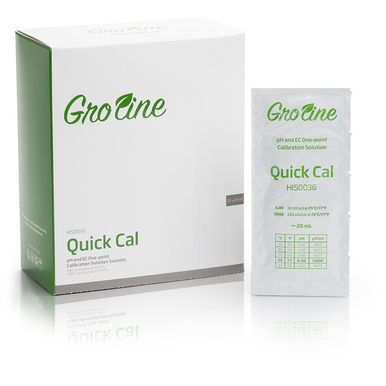 Quick Calibration Solution for GroLine pH and EC Meters (25 x 20 mL sachets)