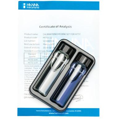 Marine Alkalinity (dKH) Checker® HC Calibration Check Set