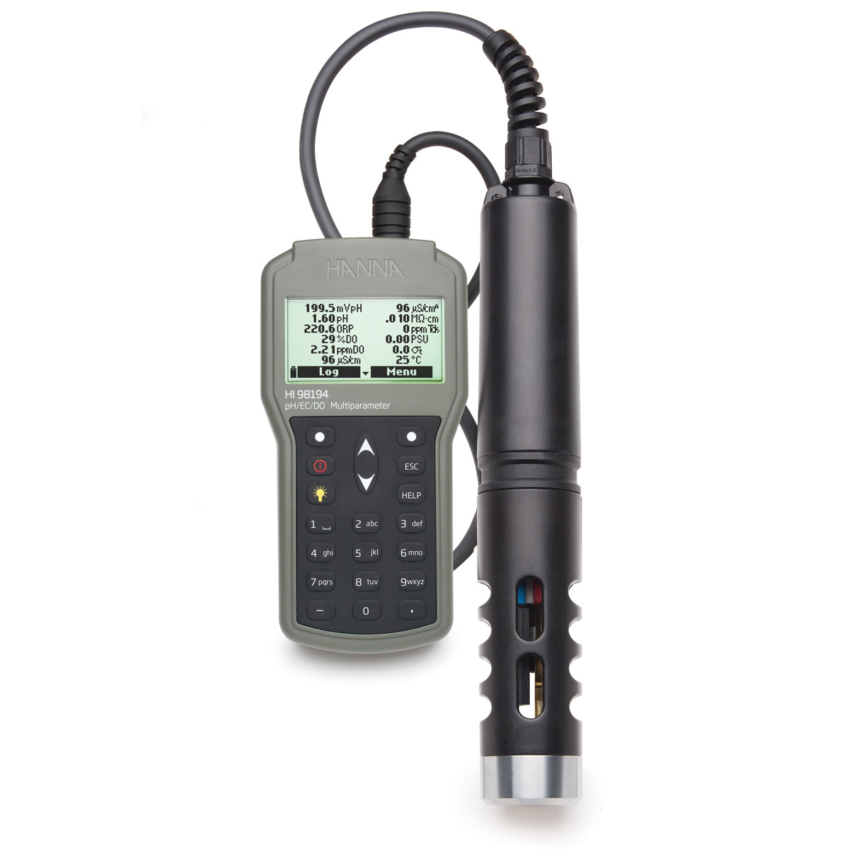 Multiparameter pH/ORP/EC/TDS/Salinity/DO/Pressure/ Temperature Waterproof Meter
