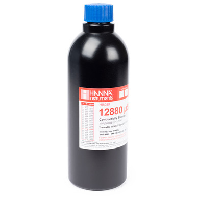 12,880 µS/cm Conductivity Standard in FDA Bottle (500mL)