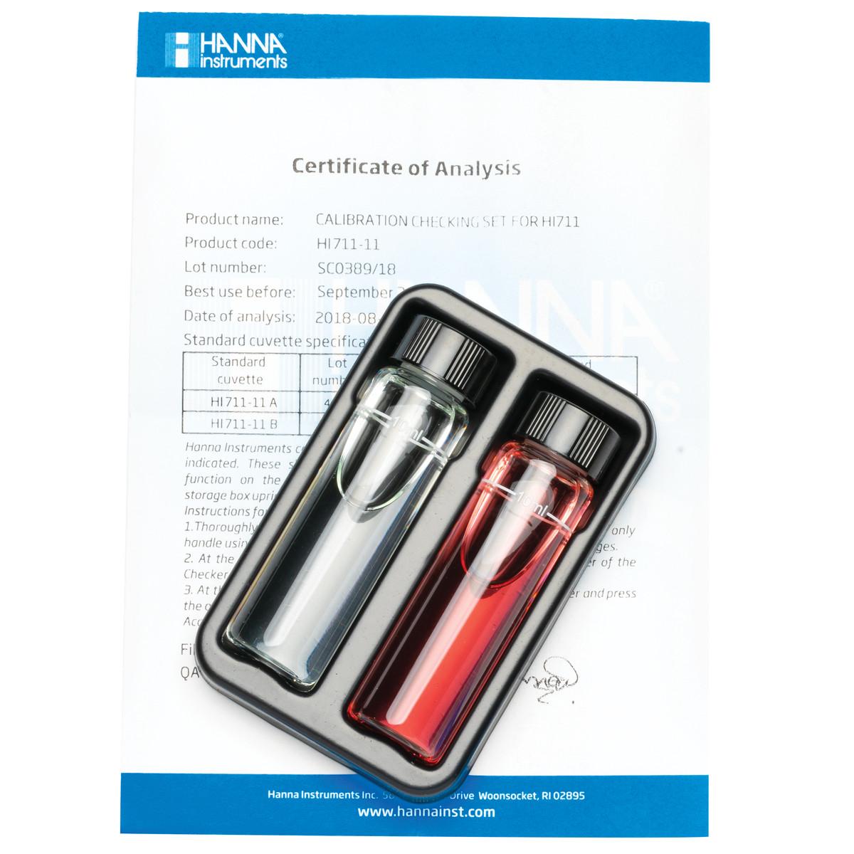 Total Chlorine Checker® HC Calibration Check Set