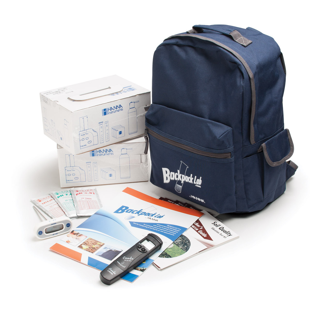 Backpack Lab Soil Quality Educational Test Kit